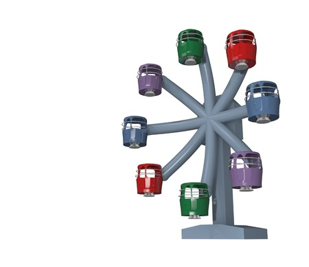 ferris wheel amusement ride with colorful capsules