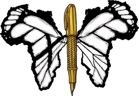 Pen with Wings Illustration