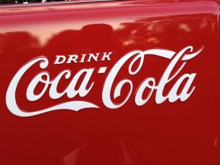 Vintage coca cola signo Foto de archivo - 21686924