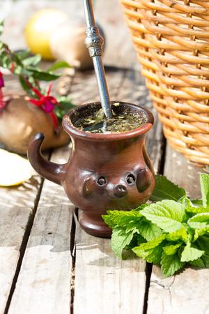 mate: Mate - traditional herb tea of Latin America