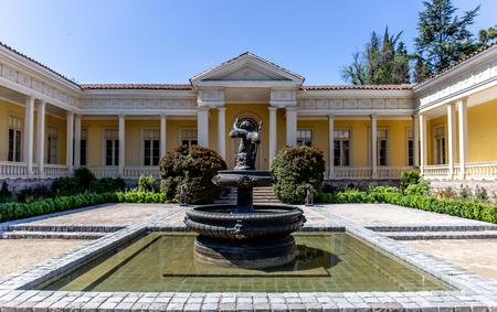 SANTIAGO, CHILE - NOV 29, 2018: Concha y Toro Mansion and Vineyard Editorial