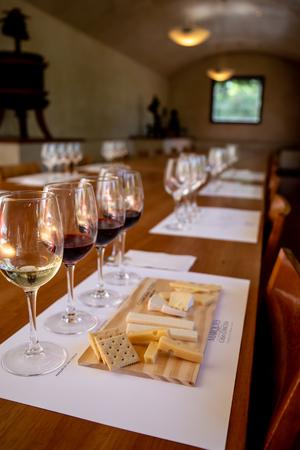 SANTIAGO, CHILE - NOV 29, 2018: Wine degustation in Concha y Toro Mansion and Vineyard Editorial