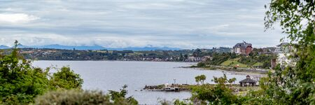 Cityscape panoramic view of Puerto Varas City, Region los Lagos Chile. 写真素材