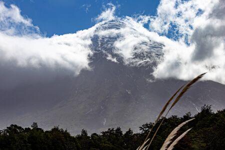 Panoramic landcape. Volcano Osorno, Region Los Lagos Chile. Foto de archivo - 130165473