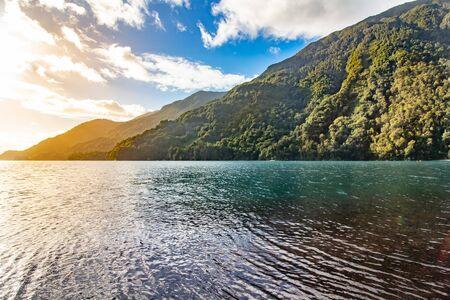 Chilean landscape Ensenada, lake Todos los Santos, National Park.