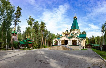 Ganina Yama Ganyas Pit - Complex of wooden Orthodox churches at the burial place of last Russian tsar near Yekaterinburg, Russia.