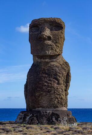 Moai on Este Island Rapa Nui. Last Moai.