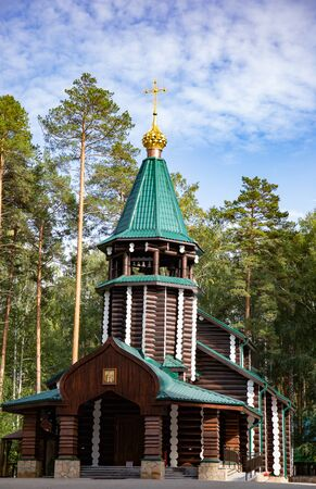 Ganina Yama Ganyas Pit - Complex of wooden Orthodox churches at the burial place of last Russian tsar near Yekaterinburg, Russia
