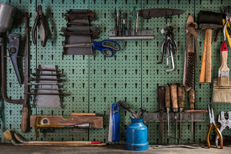collet: Tools and workbench with copy space