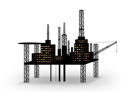 oilrig: oil platform isolated on white background
