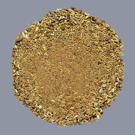 fennel seeds: chinese five-spices mixture made from Star anise, Cloves , Chinese Cinnamon, Sichuan pepper and Fennel seeds