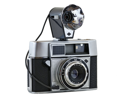 analogous: range-finder camera with flash attachment program exposure and foldable, Germany, 1960