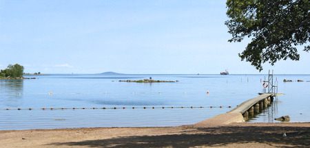 a bathing place: bathing place at Oskarshamn on the Baltic sea, Sweden Stock Photo