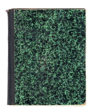 marmorate: vecchio libro copertina verde modellata con retro nero