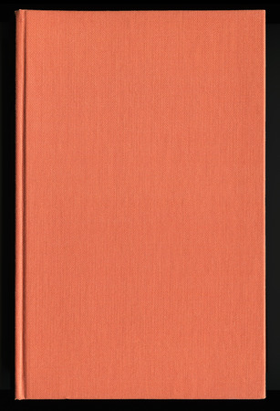 hard bound: book cover made from orange cloth Stock Photo