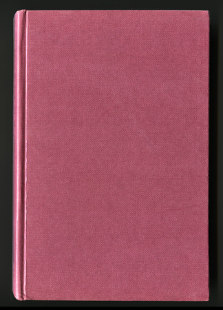 hard bound: book cover made from ruby cloth