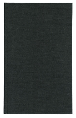 hard bound: book cover made from black cloth