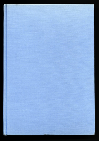 hard bound: book cover made from light blue cloth