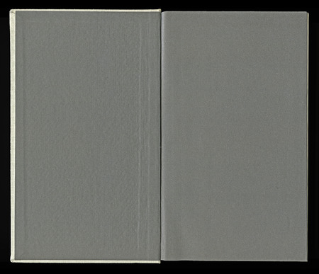 hard bound: inner side of a book cover with end-pages Stock Photo