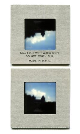 framed: slide framed with hot sealed cardboard frame