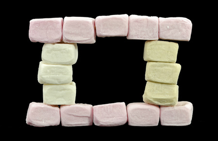 expectorant: front with window made from different colored marshmallow cubes Stock Photo