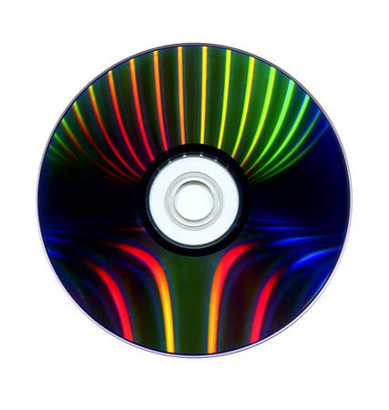 leds: Capa de datos de DVD iluminado por LEDs y escaneado Foto de archivo