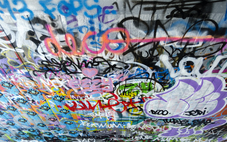 Londons south bank skate parkthe undercroft with graffitis 46767787 graffiti at londons south bank skate parkthe undercroft england great britain thecheapjerseys Gallery