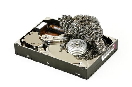 harddisc: opened harddisc with steel wool