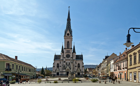 gothic heart: Heart Jesus church at the center of Koeszeg, Hungary Editorial