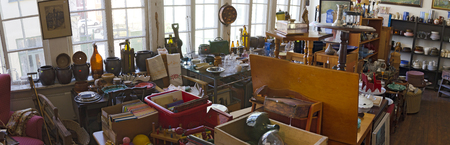 rummage: offer of a rag shop in the swedish town of Vaestervik
