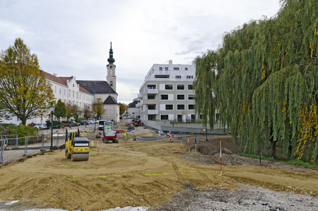 Building site to develope the landing place on the river danube and the monastery way to the socalled