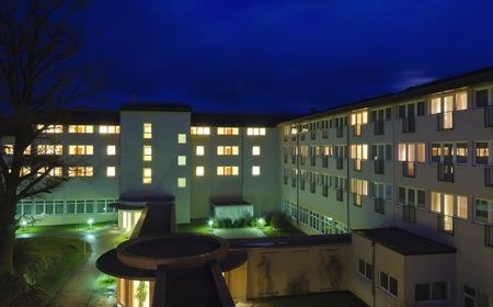 BAD HARBACH, AUSTRIA - MARCH 5, 2013: buildings of the moor therapeutic bath in the region Editorial