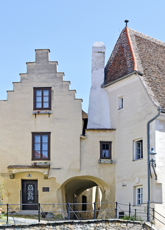 the socalled S?nggerhof, a medieval building at the beginning of the piarist staircase in the old district of Krems, Austria