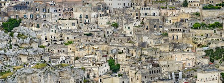 buildings of the Sasso Barisano at the historic district of Matera, Italy Stock Photo
