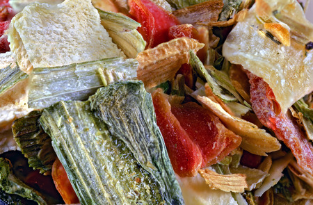freeze-dried vegetables for soups made from carrots, leek, celeriac, lovage, parsnips and parsley Zdjęcie Seryjne