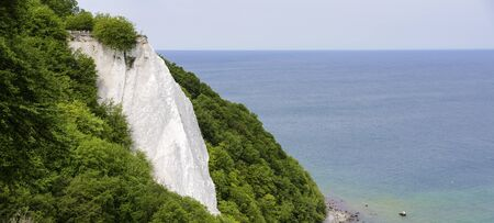 Koenigsstuhl (Kings Chair), a chalk cliff on the Stubbenkammer in the Jasmund National Park on the Baltic Sea island of Rugen, Germany