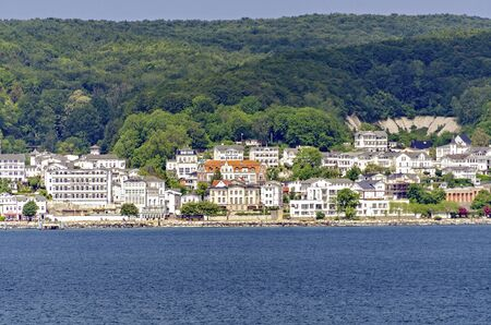 View across the Baltic Sea to the city of Sassnitz on the island of Rügen, Germany