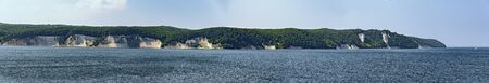 Panoramic view of the chalk coast of Ruegen, Germany