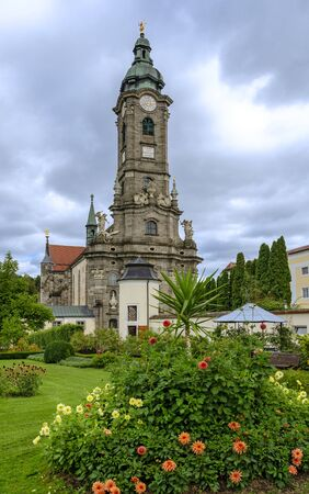 Tower of the church of the abbey Zwettl in the region Waldviertel, Austria