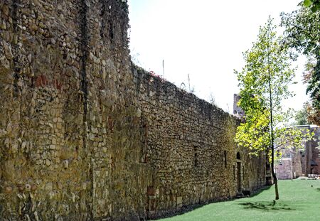 leftover of the medieval town wall of Wiener Neustadt (Viennese Newtown), Austria