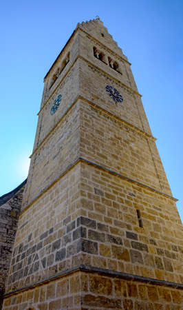 tower of the parish church Saint Hippolyt in the town Zell on the lake, Austria