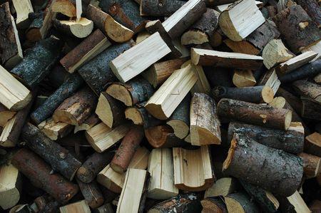 Huddle chopped wood - the background photo