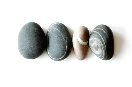 Four stones in a line Stock Photo - 5948509