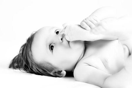 Child who sucks the thumb Stock Photo - 6099141