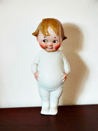 Toy - retro ceramic doll Stock Photo - 6400101