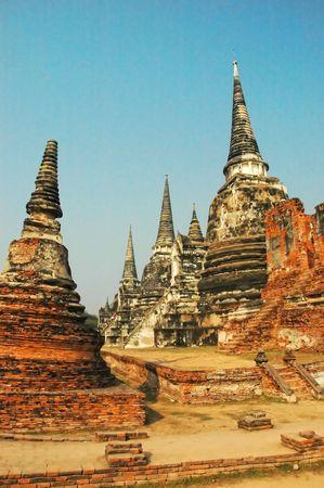 buddhist stupa: Stupa budista en Ayutthaya, Tailandia