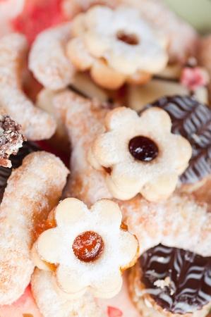 The christmas background - Christmas cookies . Stock Photo