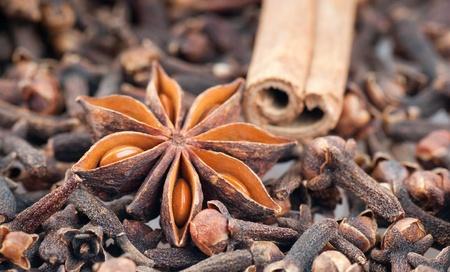 The spices - star anise, cinnamon, cloves .