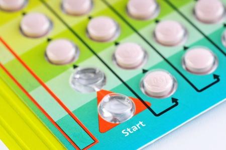nacimiento: El detalle - las p�ldoras anticonceptivas. Foto de archivo