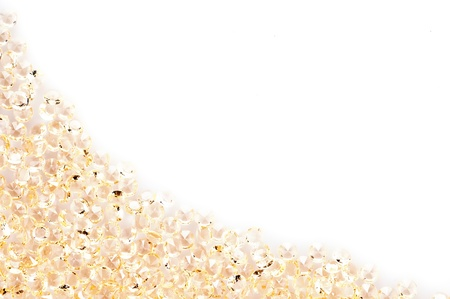 crystalline gold: The golden crystal on a white background
